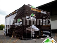 Bedrukte 3x4,5 easy-up partytent TecTronic