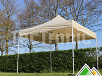 Easy-up tent van 3x3 m met beige dakzeil