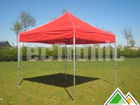 Opvouwbare partytent rood