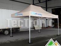 Professionele easy-up tent in wit of beige pvc